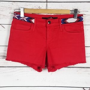 Joe's jeans red shorts